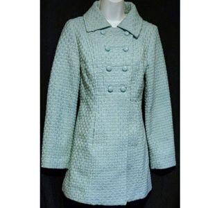 Anthropologie Tulle Wool Blend Pea Coat S